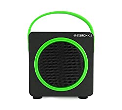 Zebronics Smart Portable Bluetooth Speake with USB | FM | TF Card slot (Green)