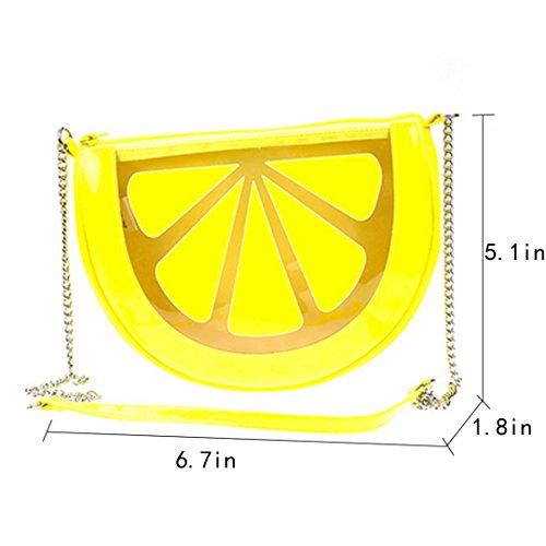 Millya, Borsa a tracolla donna, Yellow (giallo) - kb-00147-01 Yellow