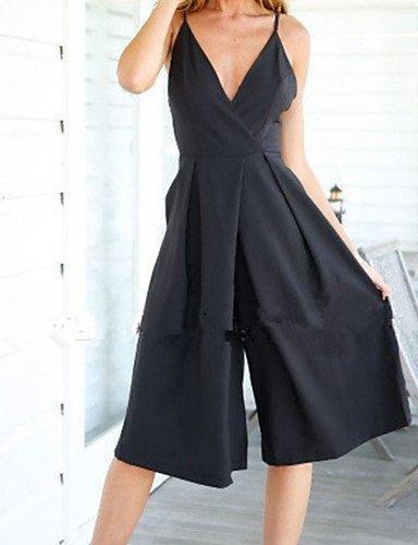 GSP-Combinaisons Aux femmes Sans Manches Sexy Polyester Fin Micro-élastique black-xl