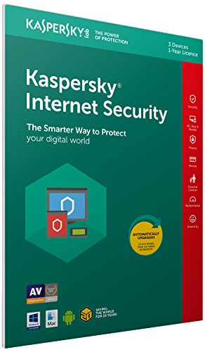Kaspersky Internet Security 2018 | 3 Dispositivi | 1 Anno | PC/Mac/Android | Imballaggio apertura facile certificato