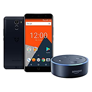 Wileyfox Swift 2 X, Midnight Dual SIM Smartphone with Amazon Echo Dot (2nd Generation), Black