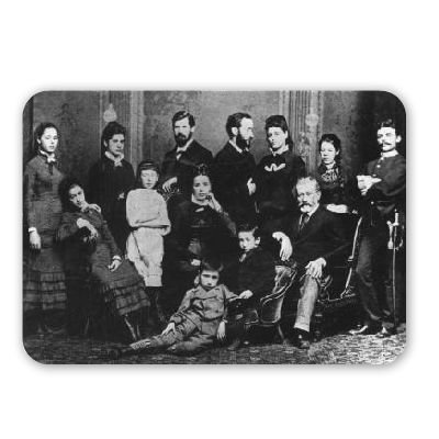 Preisvergleich Produktbild The Freud Family, c.1876 (b/w photo) by.. - Mousepad - Natürliche Gummimatten bester Qualität - Mouse Mat