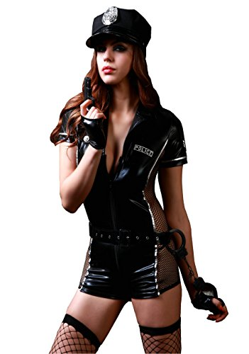 Kostüme Sexy Agent Fbi (6Moon Polizistin Komplettkostüm 7-teilig Gr. 34-40)