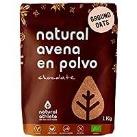 Harina de Avena Sin Gluten Natural Athlete, BIO Sin Azúcar, Sin Aditivos, Sabor Chocolate-1KG