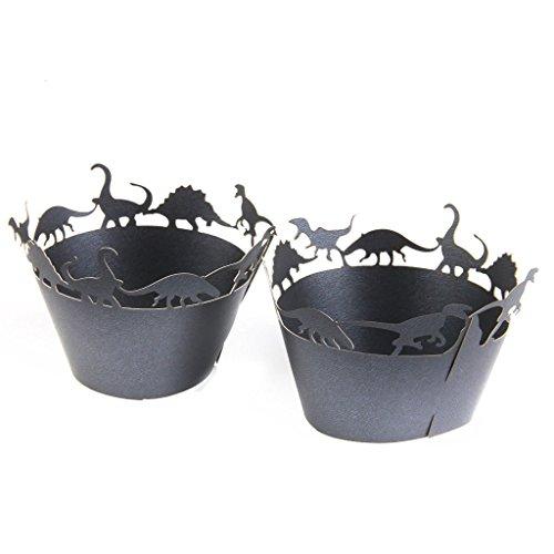 Dinosaurio maltonyo1750pcs Lace Cupcake Wrappers casos cocina decoración fiesta accesorios para el hogar