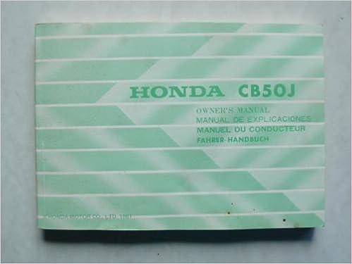Honda CB 50 J Fahrer - Handbuch mit Schaltplan: Amazon.de: keine ...