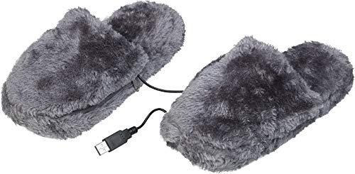 Infactory Fussheizung: Deluxe-Plüsch-Pantoffeln thumbnail