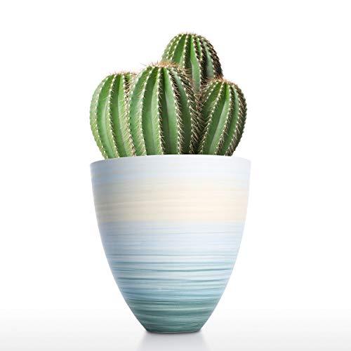 Tooarts Keramik Blumenvase Blau Vase Home Decor Vase Tabelle Mittelstücke Vase Dekorative Herzstück für zu Hause oder Hochzeit