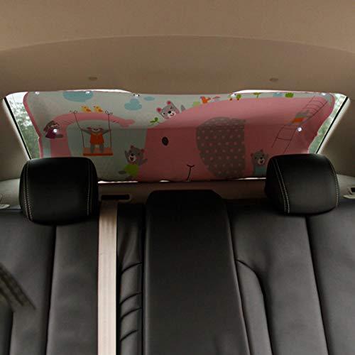 Lunette arrière voiture portable léger universel pare-soleil de voiture Ombre bloc arrière Isolation fenêtre de voiture Sunscreen Ombre (Elephant)