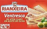 Rianxeira, Conserva de ventresca de atún claro en aceite de oliva - 6 latas de 120 gr. (Total: 720...