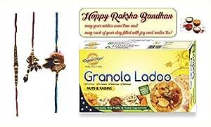 Premium Rakhi (With Sweets-Granola Ladoo-Nuts & Raisins)