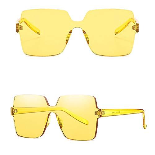 MMCP Rahmenlose Sonnenbrille, Farbverlauf Bonbonfarben Sonnenbrille Einteilige Sonnenbrille für Shopping Golffahren Reisen Unisex Polarized Brillen,11