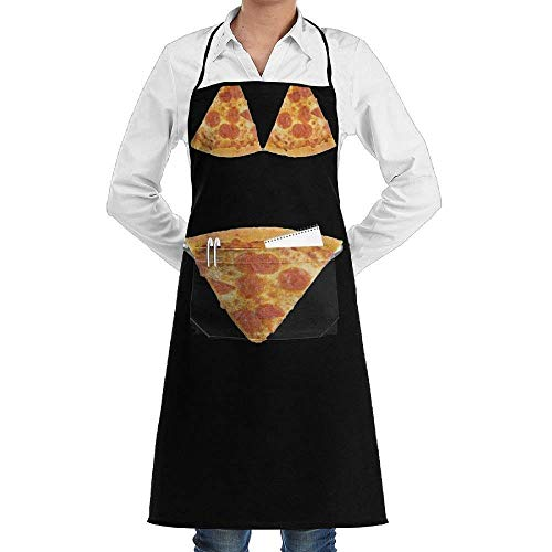 Print Reversible Bikini (3D Print Pizza Bikini Apron with One Big Pocket Commercial Restaurant Kitchen Apron)