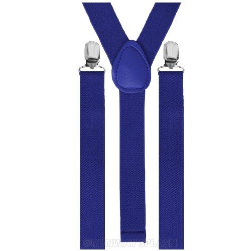 BRETELLES RÉGLABLES-SKULL FLUO-PIANO POUR HOMME FEMME UNISEXE NOUVEAU, VOIR LISTE DE NOMBREUSES COULEURS DISPONIBLES Bleu - Bleu roi
