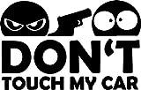 Don't Touch My Car Auto Aufkleber Sticker Tuning JDM Fun schwarz ca. 10x6 cm