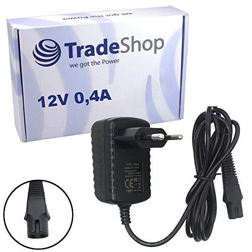Trade-Shop Premium Ladegerät 12V 0,4A für Braun 7720s 7760cc 7790cc 7840s 7850cc 7855s 7865cc 790CC 790CC-3 790CC-4 790CC-5 790cc-6 790cc-7 79595