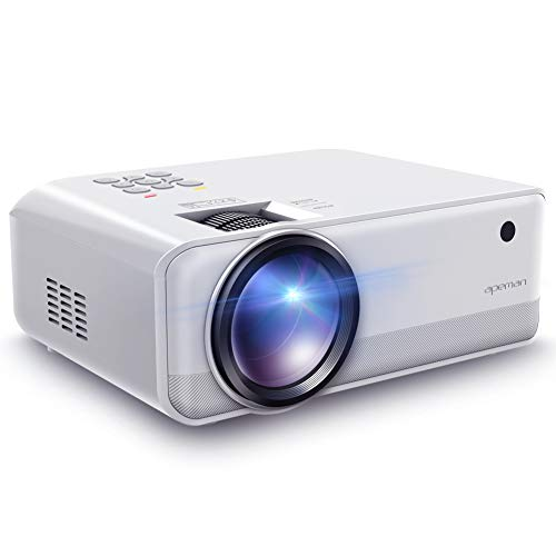 Beamer Apeman Mini Beamer Tragbarer Projektor Native 1280 * 720 Pixels 4500 Lumen unterstützt Full HD unterstützt 1080P Multimedia LED 50000 Stunden Heimkino Fußball Spiel Spaß am Erkunden Mehrweg Hd Led
