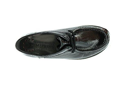 Mephisto-Chaussure Lacet-CHRISTY Noir verni 1000-Femme Noir