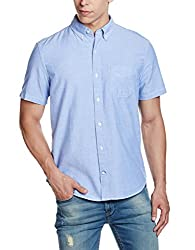 GAP Mens Oxford Short Sleeve Shirt (140721400007_17829744702_XS_Imperial Blue)
