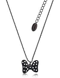 8f3a8cce153d Disney Couture Minnie Mouse rocas de esmalte negro lunares lazo collar