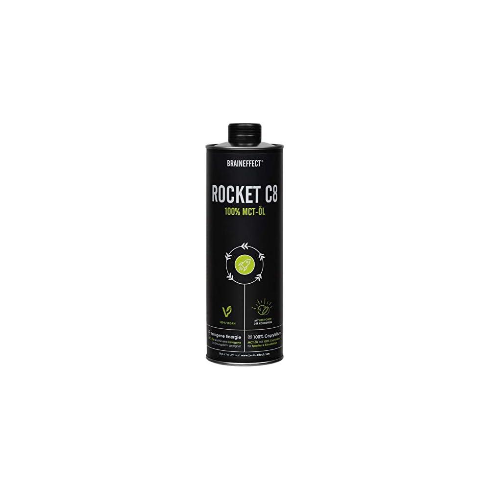 Braineffect Mct L 100 C8 Caprylsure Extrakt Aus Kokosl Geschmacksneutral Xxx Ml Glasflasche