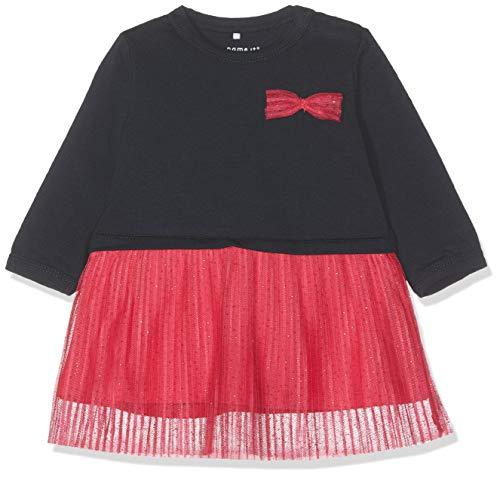 NAME IT Baby-Mädchen Kleid NBFREGITZE LS Dress, Rosa Virtual Pink, 74