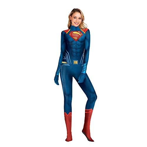 Erwachsene Halloween Kostüm Rolle Spielen, Rollenspielendes Superman Kostüm,Maskenball Party - Superman Weibliche Kostüm