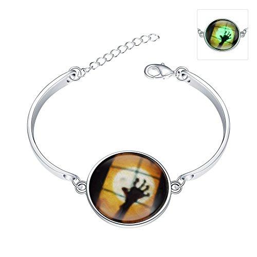 (Halloween Ghost Hand Glow Armband, versilbert)