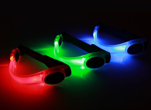 LED Fahrradlampe Spooti Licht Armband Blinklicht joggen Outdoor Schulweg Kinder Fahrrad Hundehalsband (rot)