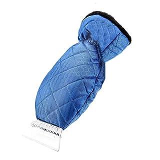MuZhuo Auto-Schneeschaufel-Handschuhe, Eisschaufel-Frostschutzhandschuhe für Auto-Schneeschaufelhandschuhe Windschutzscheiben-Schaberhandschuhe Wasserdichter Schneeräumer gefüttert Dicke Wolle (Blau)