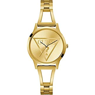 Guess Reloj Analógico para Mujer de Cuarzo con Correa en Acero Inoxidable W1145L3