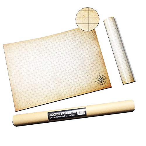 Dungeon Grid Game Mat | ESSENTIAL RPG - Battle - Tabletop Accessory |  COMPATIBLE with D&D, Pathfinder & Warhammer | REUSABLE, DURABLE & PORTABLE