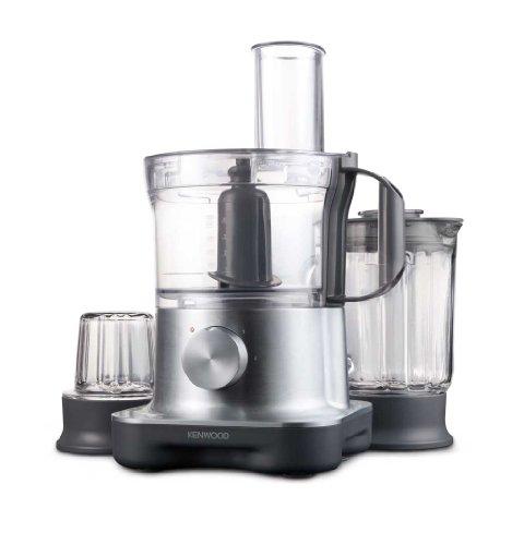 Multipro Compact FPM260 Kompakt-Küchenmaschine, 750 W, 2,1 l Arbeitsbehälter, 1,2 l Glas-Mixaufsatz