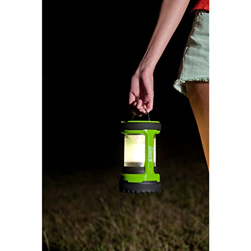41yAZde8i4L. SS500  - Coleman Battery Lock Push Lantern 200 lumens Electric Lantern - Green