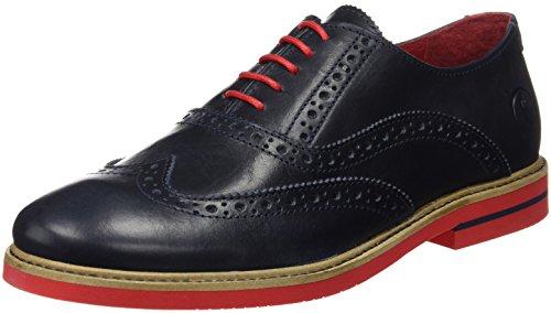 El Ganso Uomo Zapato Oxford Piel Marino Scarpe Blu Size: 40