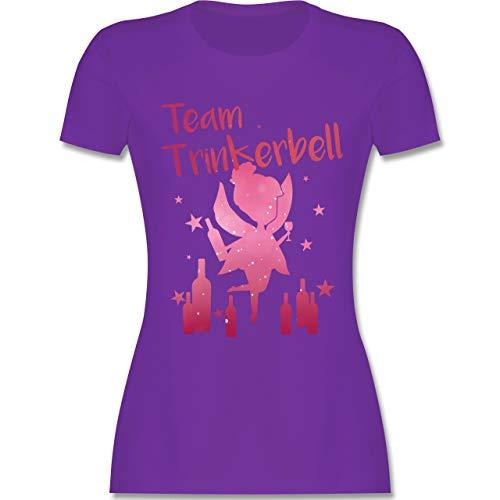 Lustige Kostüm Team - JGA Junggesellinnenabschied - Team Trinkerbell mit Flaschen - XL - Lila - L191 - Damen Tshirt und Frauen T-Shirt