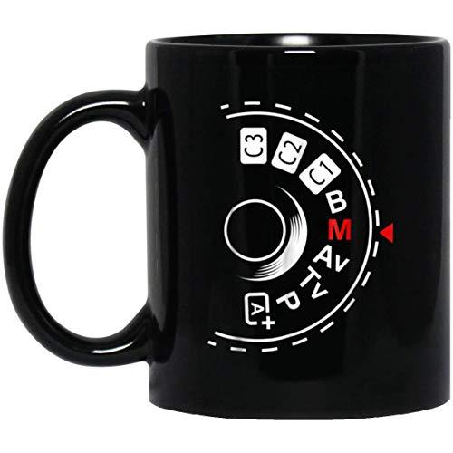 Shoot Manual Photography Lovers 11 oz. Black Mug