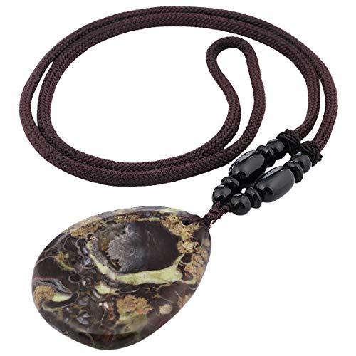 Halskette mit Anhänger für Unisex, Amulett-Chakra-Heilkristall Anhänger mit Kette ca. 64-66cm ()