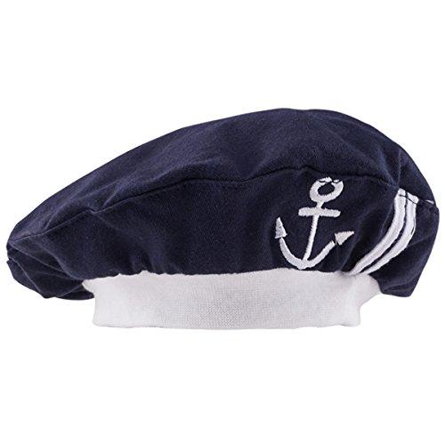 Mütze (Schwarz) (Matrosen Kapitän Hut)