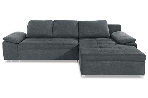 Sofa Ecksofa Labene - Grau - Luxus-Microfaser Grau