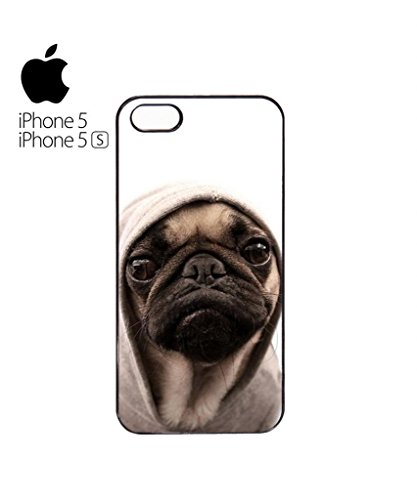 Pug Life Grumpy Dog Mobile Cell Phone Case Cover iPhone 5c White Weiß