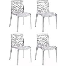 Lot chaises transparentes - Chaises transparentes design ...