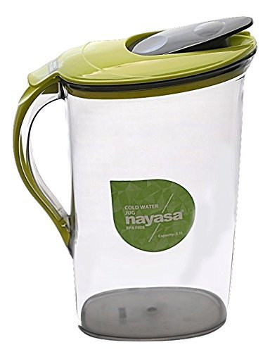 Famacart Green Apple Duck Pot 1.3L Glass Pitcher with Plastic lid,Drinking Beverage Jug,Glass Water jug for Home use @ Rs-499.00