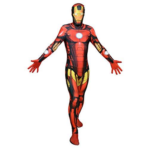 Offizieller Iron Man Morphsuit, Verkleidung, Kostüm - Xlarge - 5'10-6'1 (176cm-185cm) -