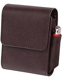 Zigarettenetui Zigarettenschachteln Zigarettenbox Etui Feuerzeug Halter PU-Leder