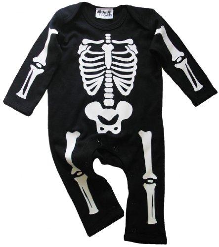Dirty Fingers, Halloween-Strampler mit Skelett-Motiv, für Jungen Gr. 12-18 Monate, ()
