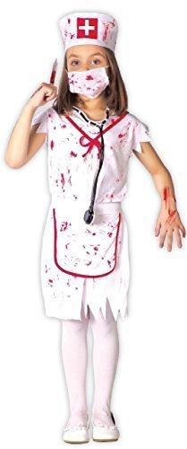 Fancy Me Mädchen Killer Zombie Blutige Krankenschwester Rettungsdienste Uniform Halloween Horror Unheimlich Kostüm Kleid Outfit 3-9 Jahre - 10-12 years