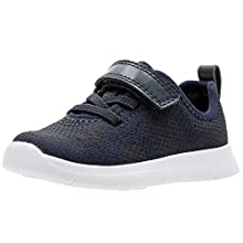 Clarks Boy's Ath Flux T Low-Top Sneakers, Blue (Navy Navy), 3 UK