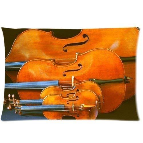 bass Cello Zippered Pillow Cases Cover 20x30 Inch (Case Cello Soft)