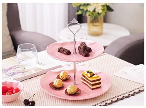 MING'FRUIT Fruit Bowl Creative Bow Assiette De Fruits Secs Plat De Bonbons Plaque De Snack Home Assiette De Gâteau En Céramique -0923 (Couleur : Pink)